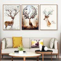 客厅装饰画现代简约大气三联画家居北欧ins挂画壁画沙发背景墙画 60x90整套 黑色简框 拼套