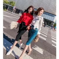 韩语琳裙子2018秋冬季新款女装韩版高腰中长裙针织裙包臀半身裙女 黑色 均码