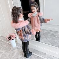 儿童加绒加厚时髦冬装大衣2019新款洋气毛呢上衣女童秋冬装外套
