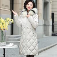 妈妈冬装棉衣中长款外套40岁50中老年女装气质羽绒棉袄服2018新款