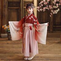 汉服女童春秋中国风儿童古装襦裙小女孩唐装长袖连衣裙演出服