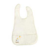 婴儿围嘴宝宝吃饭兜防溅衣围兜幼儿防水针织纯棉口水巾食饭兜