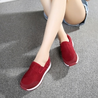 老北京布鞋女鞋春软底防滑运动休闲一脚蹬中老年妈妈鞋老人健步鞋