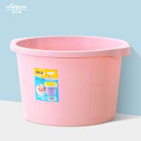 加高加厚按摩底塑料足浴盆大号洗脚盆泡脚桶小足浴桶仿木桶