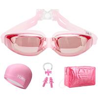 泳镜女近视高清防水防雾游泳镜女士游泳眼镜男士泳帽套装游泳装备