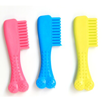 Madden 麦豆宠物用品 橡胶牙刷玩具 狗狗按摩梳玩具 环保耐咬健齿玩具 单个 2204029