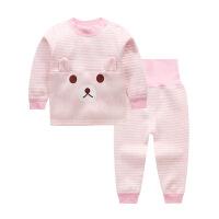 0-1-2-3岁儿童保暖内衣套装加绒加厚婴儿高腰男女宝宝保暖衣秋冬4