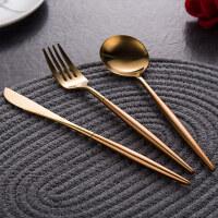 【优选】304不锈钢西餐刀叉套装 欧式西餐餐具 牛排刀叉勺3件套