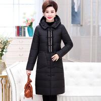 中老年女装妈妈羽绒中长款加厚大码冬季过膝棉衣中年冬装外套