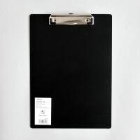 a4夹板非黑即白A4夹pp学生写字板垫板A5办公用品简约黑白款文件夹板 A4黑色