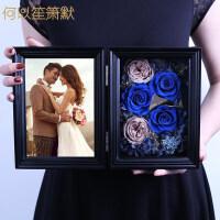 情人节礼物生日玫瑰花永生花相框礼盒纪念日礼品送女友