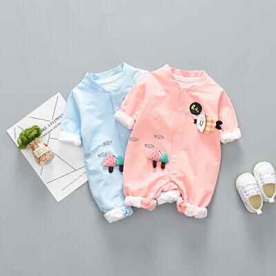 婴儿爬服2018秋冬新款新生儿衣服婴儿连体衣1-18个月男女宝宝哈衣爬服XM-5