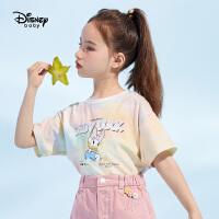 【4折券后价:38.6元】迪士尼女童夏季新款短袖T恤宝宝2021新款短袖夏装儿童t恤女洋气