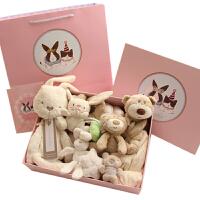 新生儿玩具 婴儿玩具礼盒初生新生公主周岁满月礼物毛绒玩具四季*纯棉 通用
