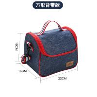 都来绣 饭盒袋保温手提袋防水便当包零食包铝膜牛津布圆形带饭包