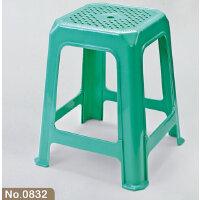 茶花大方凳 0832 塑料凳子 成人方凳 家用板凳高凳子