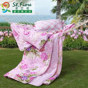 [当当自营]富安娜纯棉夏被空调被 香韵清风 粉色 1.8米