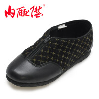 内联升女棉鞋 手工千层底春秋拉锁棉鞋 加绒保暖 老北京布鞋 8717A