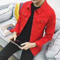 男士加绒牛仔夹克秋冬季韩版加厚快手红人同款衣服褂社会小伙外套