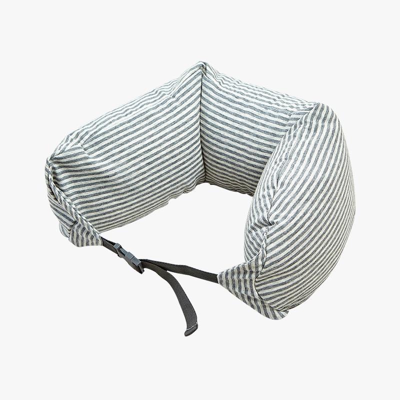 当当优品家纺 纯棉针织U枕 旅行枕午睡颈枕腰枕 烟灰当当自营 MUJI制造商代工