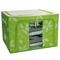 维特尔 66L优质牛津布百纳箱 收纳箱衣物整理箱 可上面前面开盖