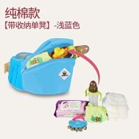 婴儿背带新生儿宝宝前抱式小孩带抱娃神器腰凳坐登多功能四季通用 纯棉浅蓝 单独腰凳