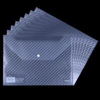 得力加厚10个装A4透明文件袋按扣塑料透明资料袋票据收纳袋办公用品档案袋文件夹文具盒试卷文具袋资料册