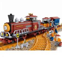儿童兼容乐高积木拼装火车玩具轨道城市系列儿童拼插男孩6-8-10周岁
