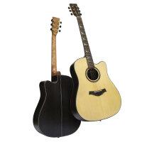 单板民谣吉他41寸 男女学生初学者考级吉他面单演奏级实木吉他 单板吉他(收藏送超值)