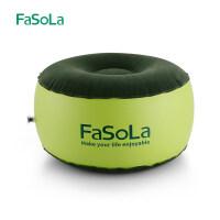 FaSoLa 充气凳子 便携野炊环保抗寒户外充气椅子车用小凳子脚垫 绿色