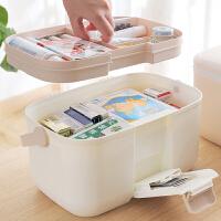 多层医药箱家用大容量药品收纳盒家庭医疗箱手提急救医护箱