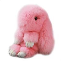 2018新款 可爱小兔子公仔 獭兔毛装死兔挂件毛绒玩具萌兔包挂饰女生创意玩偶 18厘米【毛质摸了不想放的舒服】
