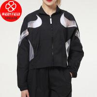 Nike/耐克女装上衣新款运动服跑步健身透气立领休闲外套梭织夹克CZ8285-010