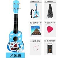 木质儿童尤克里里初学者小吉他可弹奏男女孩宝宝木制吉他玩具