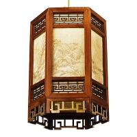 中式木制宫灯灯笼灯实木吊灯仿古花灯庭院古典阳台吊灯