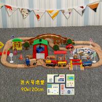 【益智玩具】木�|托�R斯��有』疖��l��道套�b情景 �和�拼�b木�|玩具� 小��道(送地�|) 手推 官方�伺�