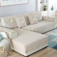 【花集云】棉麻沙发垫防滑沙发坐垫四季通用棉麻布艺客厅组合沙发套罩