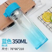 玻璃水杯过滤花茶杯创意杯便携茶杯耐热水瓶随手杯双层