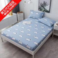 床笠全棉单件纯棉席梦思床垫保护套防尘罩1.8m床套床单1.5米床罩 +同款枕套1对