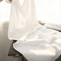 全棉浴巾 纯棉加大加厚儿童纯白色毛巾 酒店宾馆柔软大号毛巾