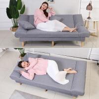 简易沙发折叠小户型布艺沙发床卧室客厅懒人沙发双人经济型出租房