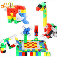 橙爱 小手创世界积木玩具 变形金刚机器人塑料拼插拆装积木益智儿童玩具
