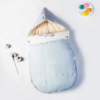 婴儿床上用品婴儿抱被防惊跳睡袋新生儿用品春秋冬加厚宝宝包被初生抱毯YW28