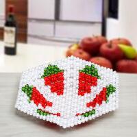 手工DIY串珠编织制作葡萄水果盘糖果收纳盒客厅创意家居摆件饰品