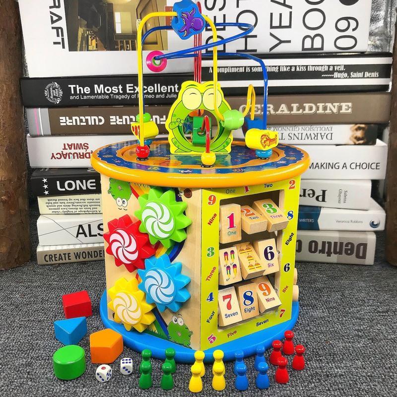 儿童玩具大号绕珠百宝箱男孩子早教益智力积木串珠1-2-3岁女宝宝 幼得乐 8合1百宝箱绕珠 带音乐款