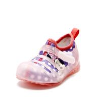 鞋柜&迪士尼 �W布拼接百搭舒�m女童�和�休�e鞋---