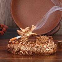 复古家用烟灰缸 中式创意个性盘龙烟缸 大号烟灰缸造型家居摆件 客厅摆件 盘龙款