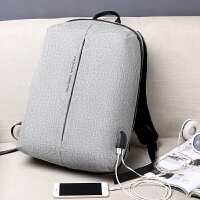休闲背包男双肩包旅行男士大容量书包时尚潮流青年简约电脑包
