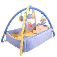 婴儿用品宝宝百天礼物满月*新生儿益智玩具音乐游戏毯冬