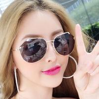 女士潮流圆脸墨镜眼镜时尚太阳镜2019新款时尚潮流太阳镜